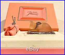 1995 Estee Lauder perfume compact Pleasures pink Cat's Meow