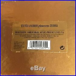 2002 Estee Lauder Zebra Pleasures Solid Perfume Compact BOX Signed EVELYN LAUDER