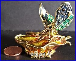 2003 Estee Lauder Intuition BEJEWELED BUTTERFLY Solid Perfume Compact NEW IN BOX