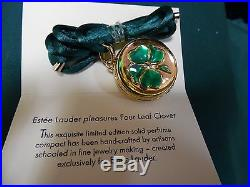 2004 Four Leaf Clover Estee Lauder Solid Perfume Compact NEW