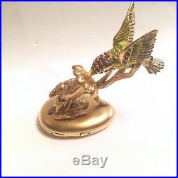 2006 Estee Lauder Fluttering Hummingbird Pleasures Solid Perfume Compact BOX