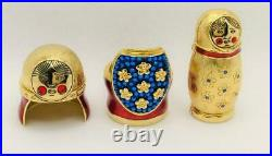 2008 Estee Lauder BEAUTIFUL NESTING DOLL Solid Perfume Compact withPouch