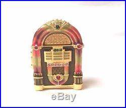 2009 Estee Lauder Jay Strongwater Jeweled Jukebox Solid Perfume Compact