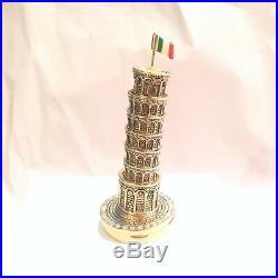 2009 Estee Lauder Pisa Tower Solid Perfume Compact Necklace BOX UNUSED NOS