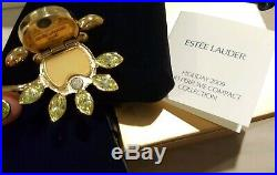 2009 Estee Lauder Sensuous Brilliant Bloom Flower Solid Perfume Compact BOX New