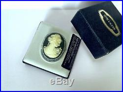 ESTEE LAUDER 1977 CAMEO SOLID PERFUME COMPACT in Orig. BOX VINTAGE ULTRA RARE