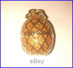 ESTEE LAUDER 1996 GOLDEN PINEAPPLE SOLID PERFUME COMPACT MIB Fragrance- Knowing