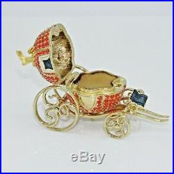 ESTEE LAUDER 2000 Cinderella Coach Solid Perfume Compact AUTOGRAPHED Retail $375