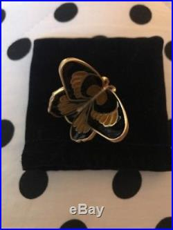 ESTEE LAUDER 2007 Solid PERFUME COMPACT BEJEWELED BUTTERFLY