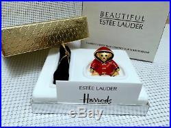 ESTEE LAUDER BEAUTIFUL PERFUME HARRODS WILLIAM BEAR SOLID COMPACT Orig BOX 1/400