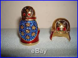 ESTEE LAUDER Beautiful Solid Perfume Matryoska Nesting Doll 2008 Compact Box
