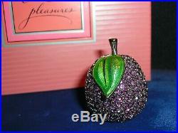 ESTEE LAUDER Purple BEAUTIFUL PLUM SOLID PERFUME COMPACT 1998 Unused In Box