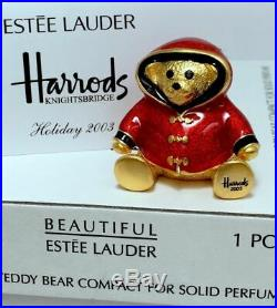 ESTEE LAUDER for HARRODS WILLIAM BEAR SOLID PERFUME COMPACT in Orig. BOXES 1/400