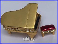 Estate Estee Lauder Grand Piano & Bench Dazzling Gold Solid Perfume Compact 1999