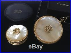Estee Lauder 1965 Regent Monogram Solid Perfume & Powder Compact Ultra Rare