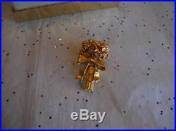 Estee Lauder 2000 Solid Perfume Compact Beautiful Flowering Bouquet Mib Full
