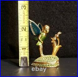 Estee Lauder 2001 Pleasures Solid Perfume Compact Fairy Green Heart