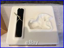 Estee Lauder 2001 Solid Perfume Compact Magical Unicorn Mib Full Pleasures