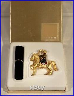 Estee Lauder 2002 Solid Perfume Compact-Pleasures Rodeo Cowboy on a Horse