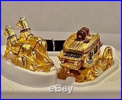 Estee Lauder 2003 Collectible Solid Perfume Compact Pleasures Stagecoach