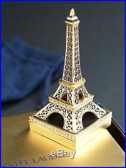 Estee Lauder 2006 Beyond Paradise Eiffel Tower Solid Perfume Compact Jewel