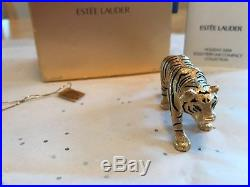 Estee Lauder 2009 Solid Perfume Compact Year Of The Tiger Mib Beautiful