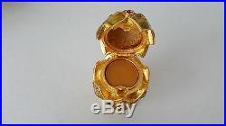 Estee Lauder Artichoke Solid Perfume Compact Swarovski Crystals, New Unused