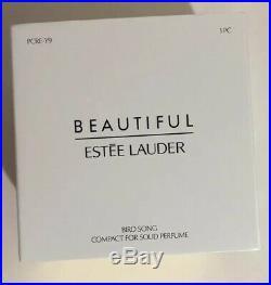 Estee Lauder BEAUTIFUL BIRD SONG Solid Perfume Compact Collectable 2019 NIB