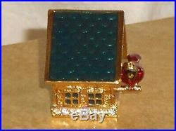 Estee Lauder BIRD HOUSE Solid Perfume Compact 2001 Red Cardinal