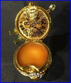 Estee Lauder BIRDBATH Pleasures Solid Perfume Compact with Pouch and Signed Box