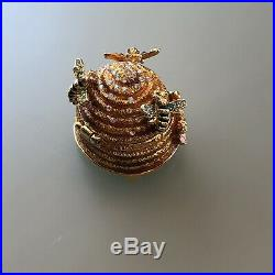 Estee Lauder Beautiful All The Buzz 2008 J Strongwater Solid Perfume Compact