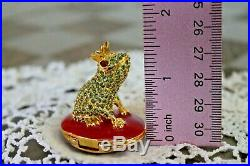 Estee Lauder Bejeweled LOVING FROG Solid Perfume Compact