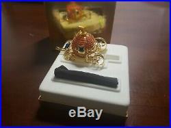 Estee Lauder CINDERELLAS COACH Crystal Pumpkin Solid Perfume Compact MIB