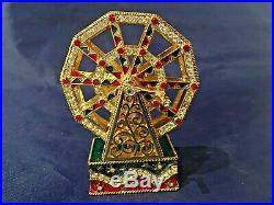 Estee Lauder FERRIS WHEEL Solid Perfume Compact with Pouch and Signed Box