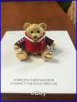 Estee Lauder Harrods 2017 Christmas Bear Solid Perfume Compact Last one