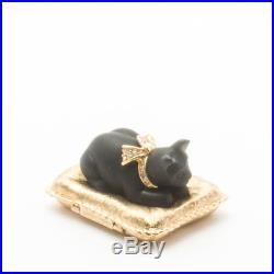 Estee Lauder Knowing Solid Perfume Compact Parfum Collectible Cat's Meow