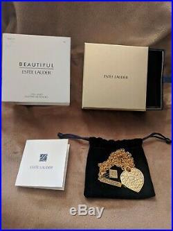 Estee Lauder LOVE LOCKET 2017 Solid Perfume Necklace BOXED