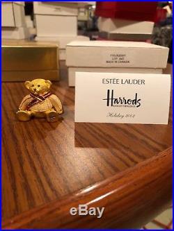 Estee Lauder Pleasures Harrods Teddy Bear Holiday 2002 Solid Perfume Compact