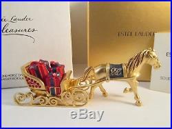 Estee Lauder Pleasures One Horse Open Sleigh Solid Perfume Compact RARE