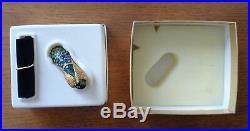 Estee Lauder Pleasures Solid Perfume PRECIOUS PEACOCK Compact 2003 Original Box