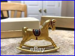 Estee Lauder Rocking Horse Solid Perfume Compact Mib White Linen No Tag