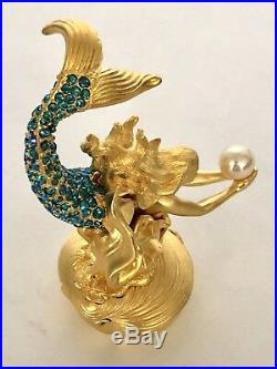 Estee Lauder SPARKLING MERMAID Solid Perfume PLEASURES Compact withBoxes Tag