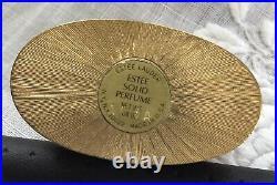 Estee Lauder Solid Compact Perfume 1982 Nesting Ducks Ivory Series Estee