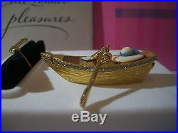 Estee Lauder Solid Perfume Compact 2002 Boat Ride Mint In Both Boxes Full