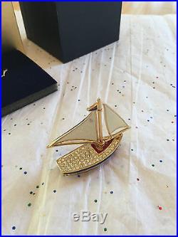 Estee Lauder Solid Perfume Compact 2007 Mib Sparkling Sailboat Pleasures
