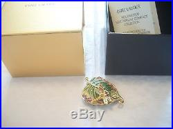 Estee Lauder Solid Perfume Compact 2009 Magical Leaf Mib Full By Jay Strongwater