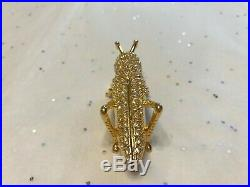 Estee Lauder Solid Perfume Compact 2013 Grasshopper So Cute And Sparkly! Empty