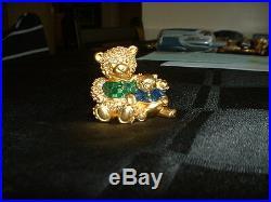 Estee Lauder Solid Perfume Compact Bear Hug Mint Original Box