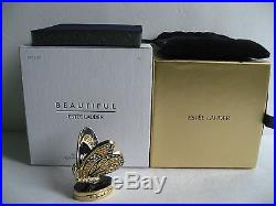 Estee Lauder Solid Perfume Compact Bejeweled Butterfly Mint