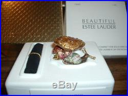 Estee Lauder Solid Perfume Compact Jay Strongwater Enchanted Mushroom Box